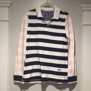 EUC Brooks Brothers M rugby polo striped shirt